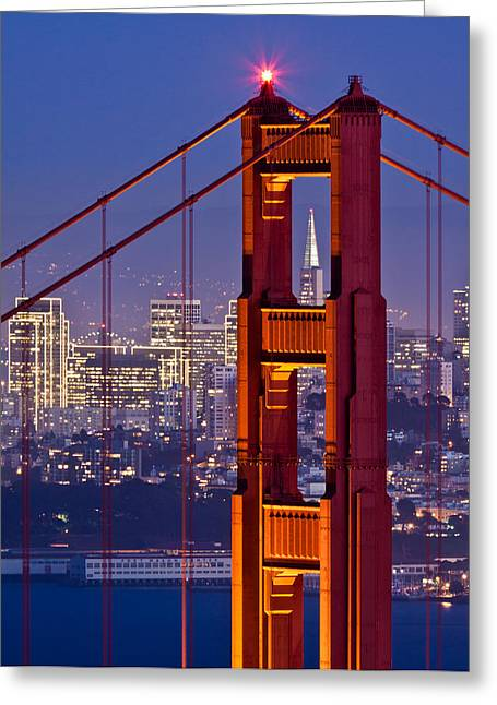 San Francisco Through The Letterbox Greeting Card by Alexis Birkill
