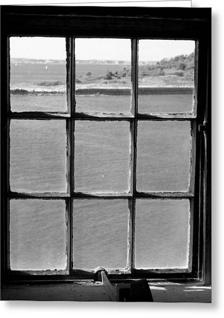 Greeting Card featuring the photograph Through The Lighthouse Window by John Hoey