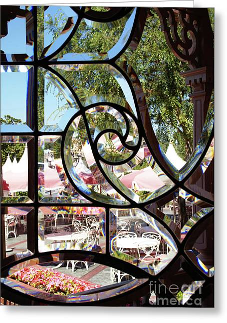 Through The Looking Glass Greeting Card by Linda Shafer