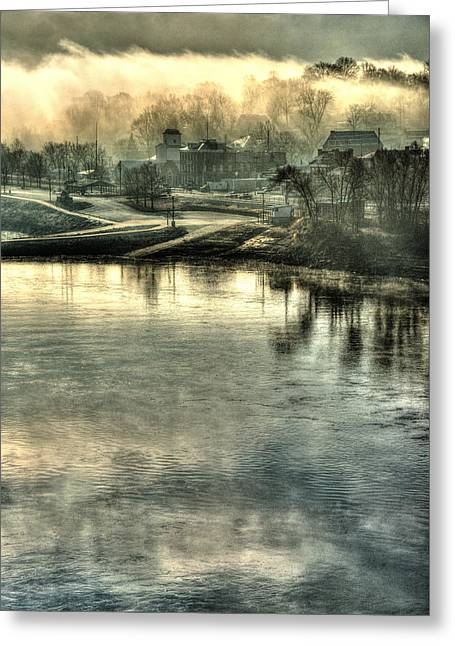 Through The Missouri Mists Greeting Card