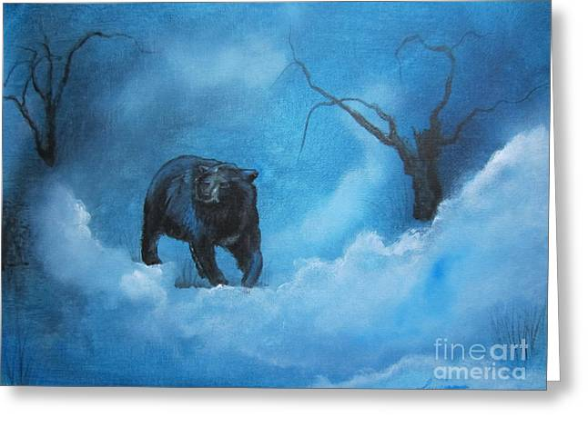 Through The Mist Greeting Card by Laurianna Taylor