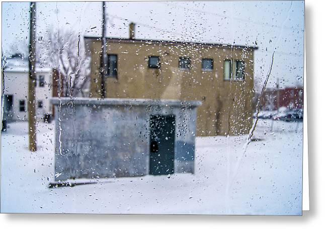 Through The Train Window Greeting Card by Arkady Kunysz