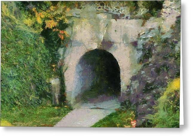 Through The Tunnel Greeting Card by Dan Sproul