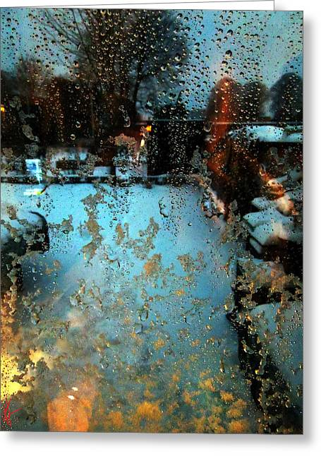 Greeting Card featuring the photograph Through The Window by Colette V Hera  Guggenheim