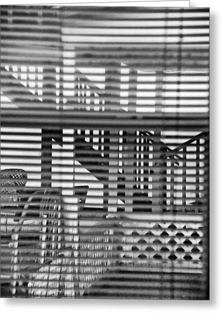 Greeting Card featuring the photograph Through The Window by Susan D Moody