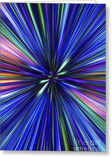 Through The Wormhole.. Greeting Card