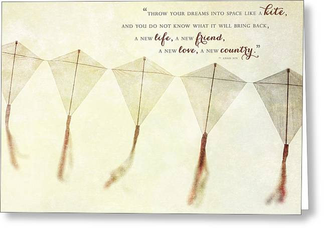 Throw Your Dreams Like A Kite Greeting Card by Lisa Russo