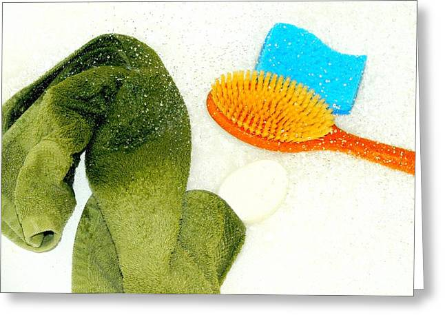Throwing In The Towel Greeting Card by Diana Angstadt