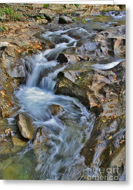 Thru The Rocks Greeting Card by Butch Phillips