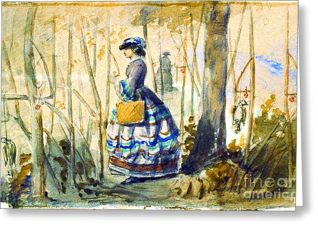 Thrush Hunting 1834 Greeting Card by Padre Art