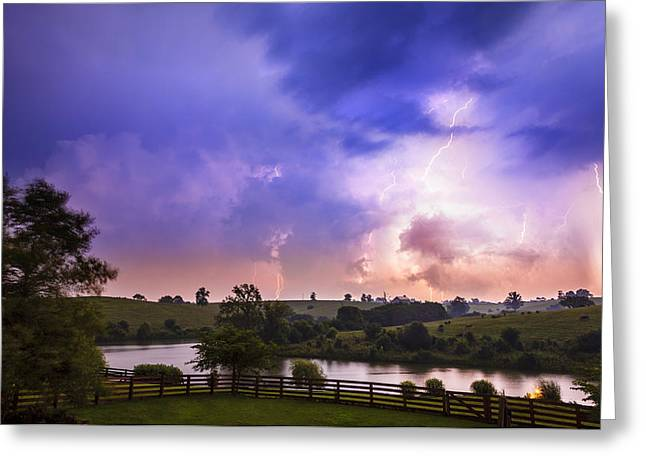 Thuderstorm Greeting Card by Alexey Stiop