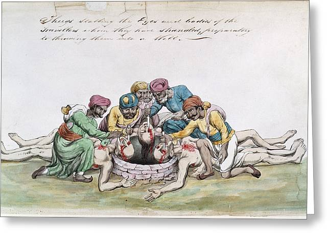 Thugs Mutilating The Bodies Greeting Card by British Library