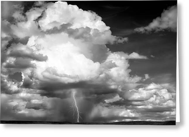 Thunder And Lightning Greeting Card by Leland D Howard