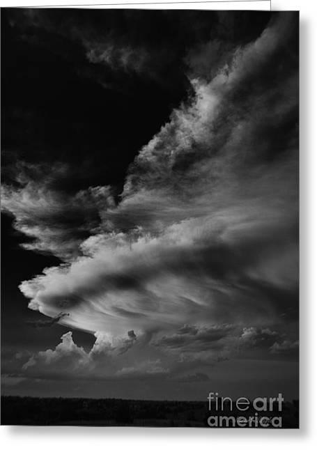 Thunder Cloud Greeting Card by Karen Slagle