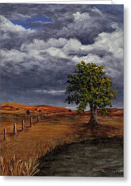 Thunder Clouds Greeting Card by Darice Machel McGuire