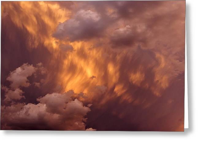 Thunder Clouds Greeting Card by David Pantuso