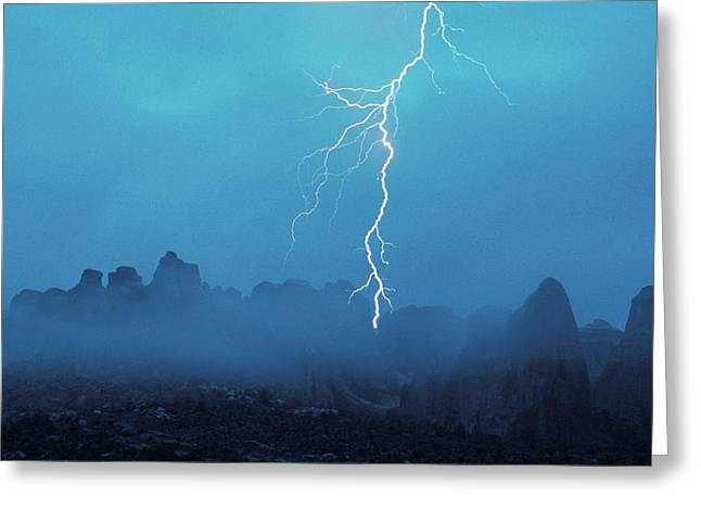 Thunder In The Sky Arches National Park Greeting Card by Panoramic Images