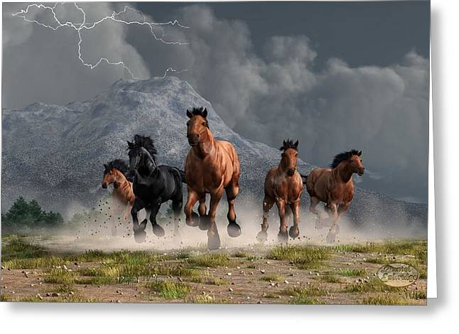 Thunder On The Plains Greeting Card by Daniel Eskridge