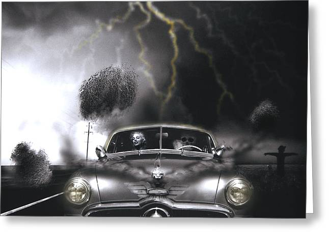 Thunder Road Greeting Card by Larry Butterworth