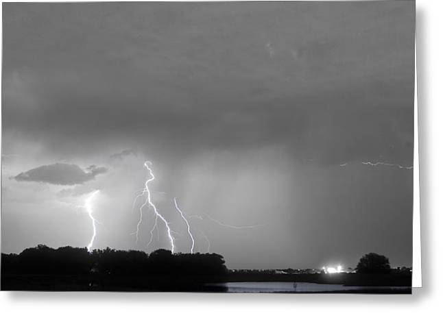 Thunder Rolls And The Lightnin Strikes Bwsc Greeting Card by James BO  Insogna