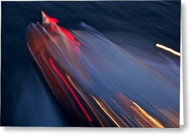 Thunderbird At Night Greeting Card by Steven Lapkin