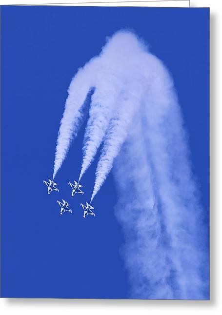 Thunderbirds Diamond Formation Downwards Greeting Card