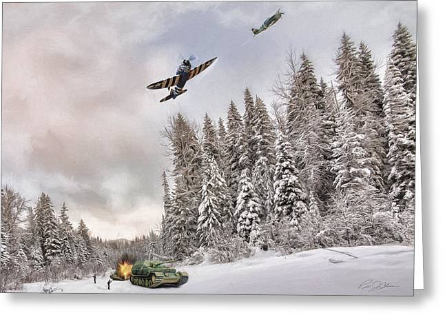 Thunderbolt Attack Greeting Card by Peter Chilelli
