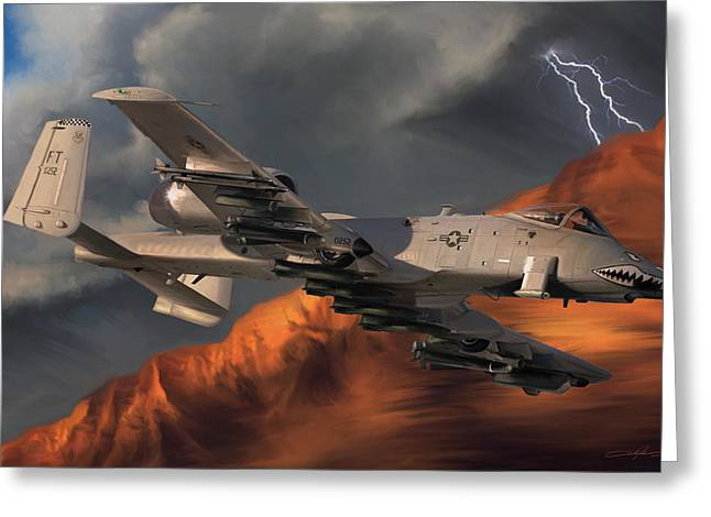 Thunderbolt II Greeting Card by Dale Jackson