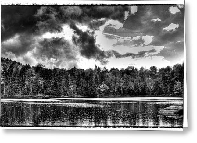 Thunderclouds Over Cary Lake Greeting Card by David Patterson