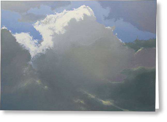 Greeting Card featuring the painting Thunderhead 2 by Cap Pannell