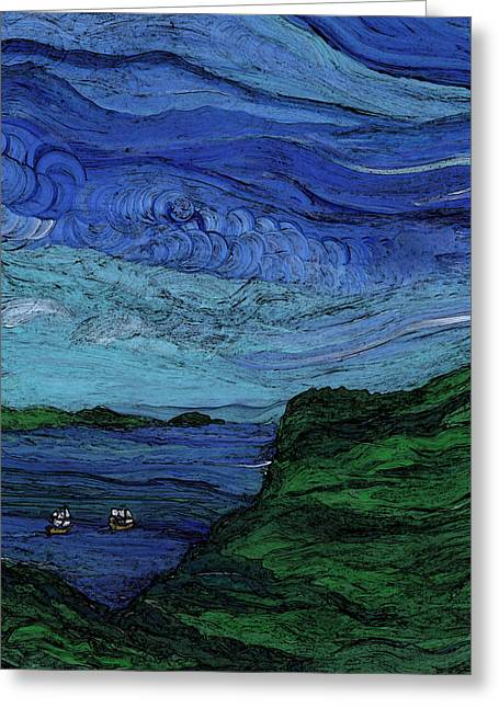 Thunderheads Greeting Card by First Star Art