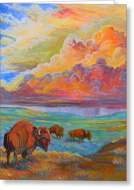 Thunderheads Greeting Card by Jenn Cunningham