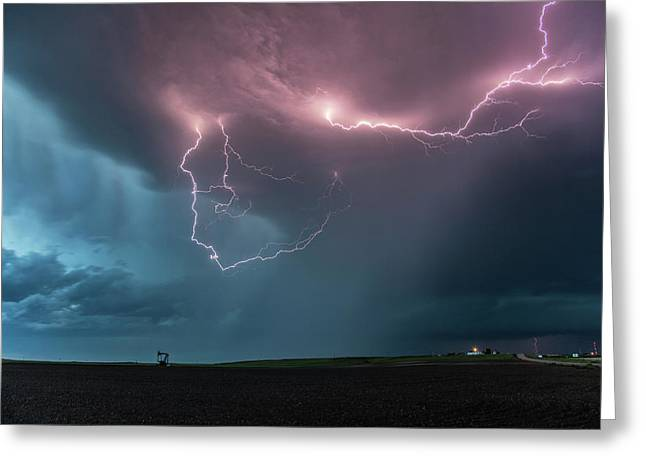 Thunderstorm At Dusk Greeting Card by Roger Hill