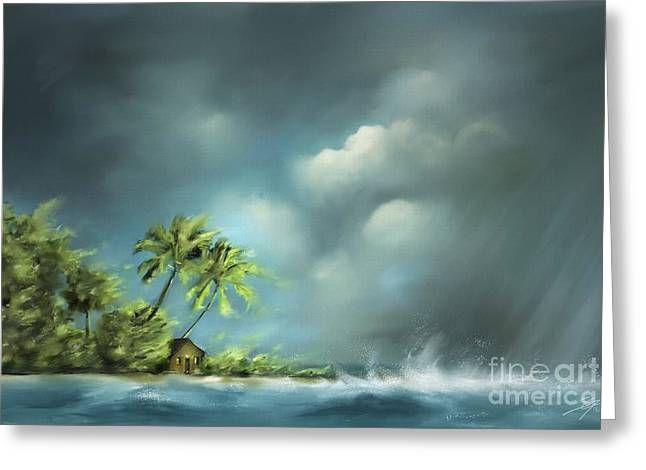Thunderstorm At Jupiter Beach Greeting Card
