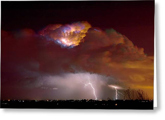 Thunderstorm Boulder County Colorado   Greeting Card