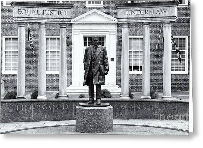 Thurgood Marshall Memorial II Greeting Card by Clarence Holmes