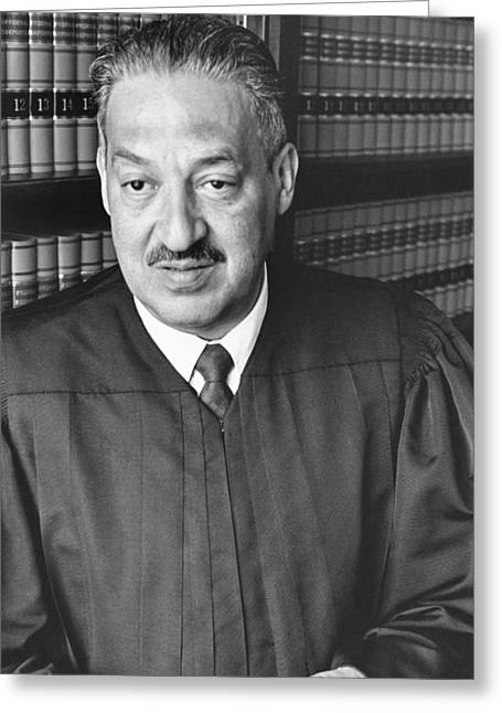 Thurgood Marshall Greeting Card by Rollie McKenna