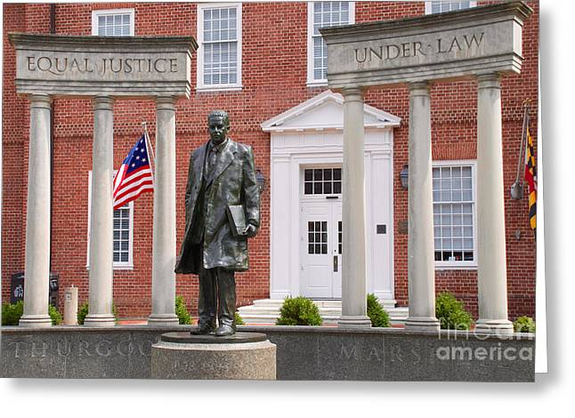 Thurgood Marshall Statue - Equal Justice For All Greeting Card