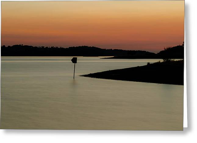 The Lake After Sunset Greeting Card by Alexandre Martins