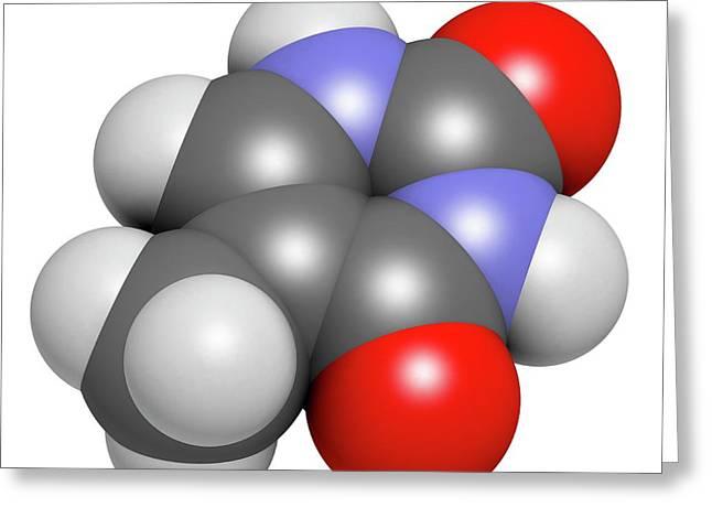 Thymine Nucleobase Molecule Greeting Card by Molekuul