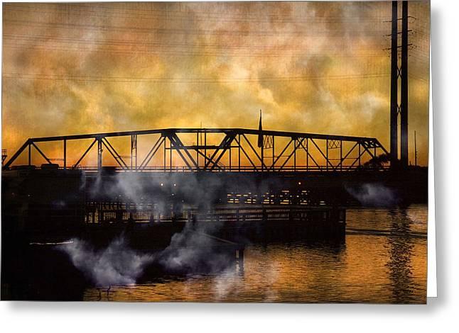 Ti Swing Bridge Ghost Greeting Card by Betsy Knapp