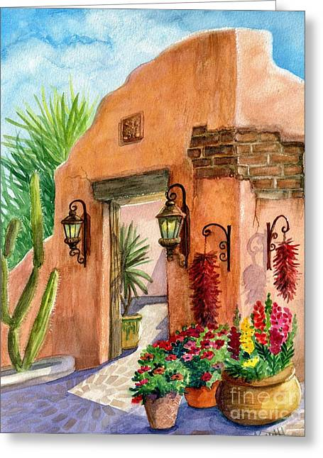 Tia Rosa Time Greeting Card by Marilyn Smith