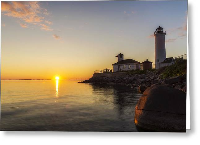 Tibbetts Point Lighthouse Greeting Card by Mark Papke