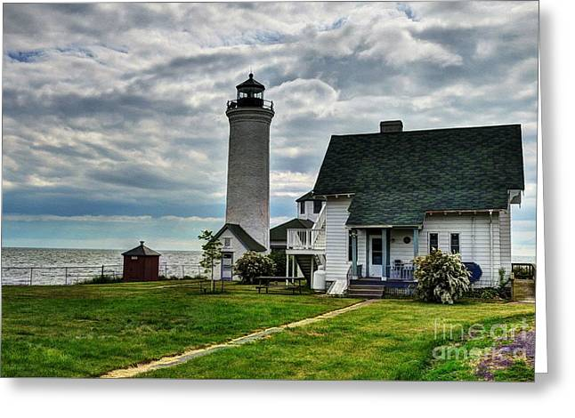 Tibbetts Point Lighthouse Greeting Card by Mel Steinhauer