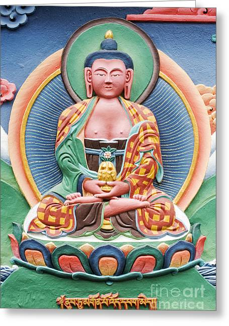 Tibetan Buddhist Deity Sculpture Greeting Card by Tim Gainey