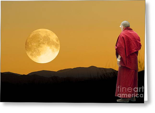 Tibetan Monk Greeting Card