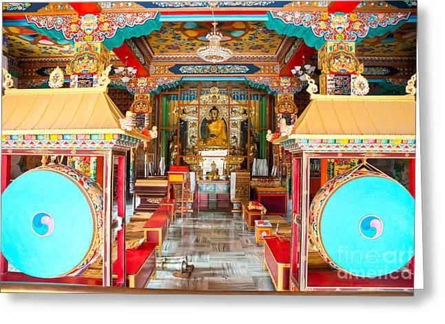 Tibetan Temple - Bodhgaya - India Greeting Card by Luciano Mortula