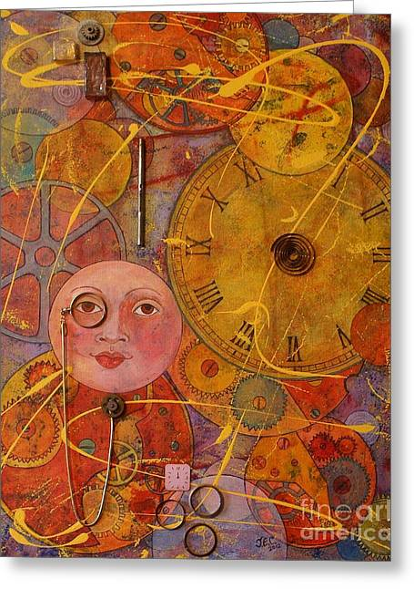 Tic Toc Greeting Card by Jane Chesnut