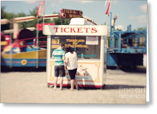 Ticket Booth Greeting Card by K Hines