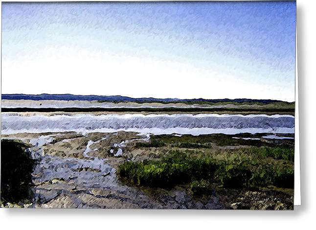 Tidal Flats Greeting Card by Christopher Bage